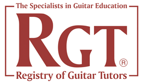Registry of guitar tutors logo
